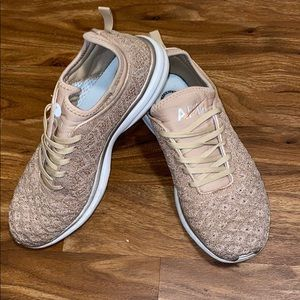 APL Athletic Propulsion Labs rose gold sneakers